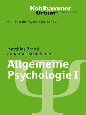cover image of Allgemeine Psychologie I