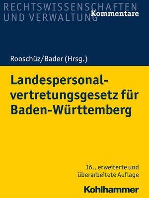 cover image of Landespersonalvertretungsgesetz für Baden-Württemberg