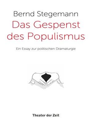 cover image of Das Gespenst des Populismus