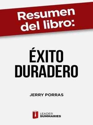 """cover image of Resumen del libro """"Éxito duradero"""" de Jerry Porras"""