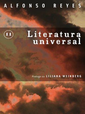 cover image of Literatura universal