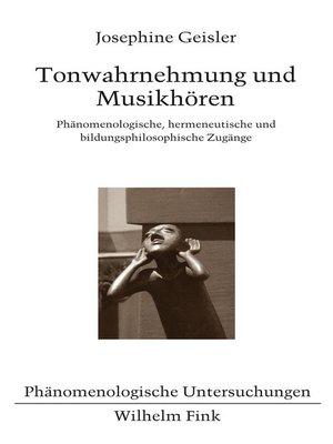 cover image of Tonwahrnehmung und Musikhören