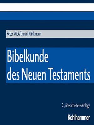 cover image of Bibelkunde des Neuen Testaments