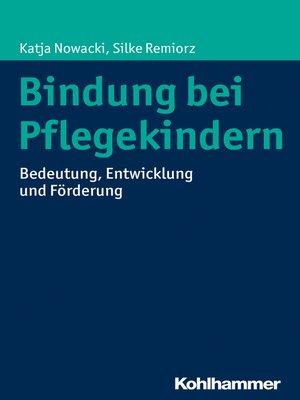 cover image of Bindung bei Pflegekindern