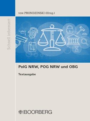 cover image of PolG NRW, POG NRW und OBG