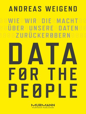 cover image of Data for the People