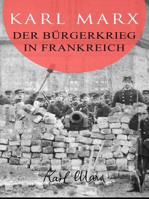 cover image of Der Bürgerkrieg in Frankreich