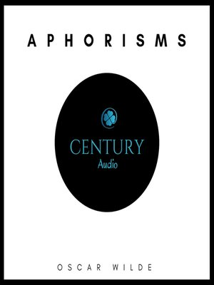 cover image of Aphorisms