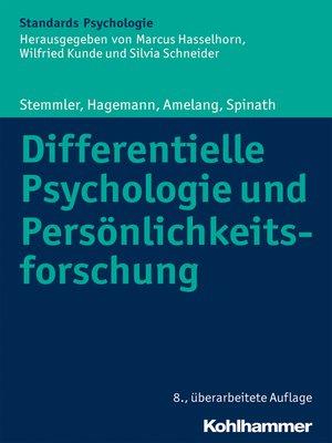 cover image of Differentielle Psychologie und Persönlichkeitsforschung