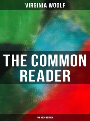 cover image of THE COMMON READER (The 1925 Edition)