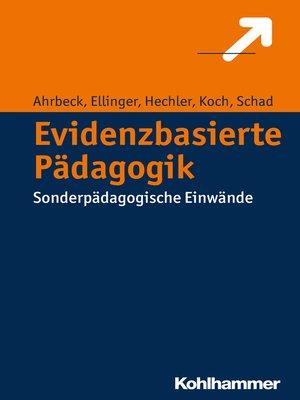 cover image of Evidenzbasierte Pädagogik