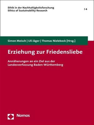 cover image of Erziehung zur Friedensliebe