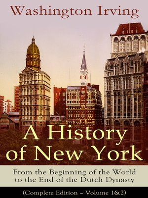 cover image of A History of New York
