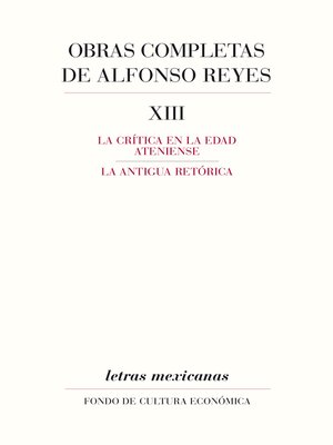 cover image of Obras completas, XIII