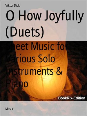 cover image of O How Joyfully (Duets)