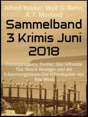 cover image of Sammelband 3 Krimis Juni 2018