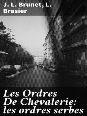 cover image of Les Ordres De Chevalerie