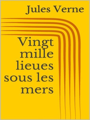 cover image of Vingt mille lieues sous les mers