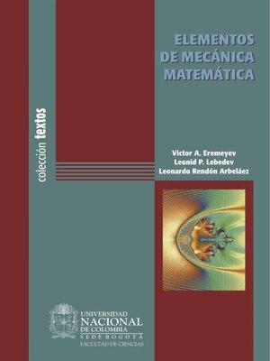 cover image of Elementos de mecánica matemática