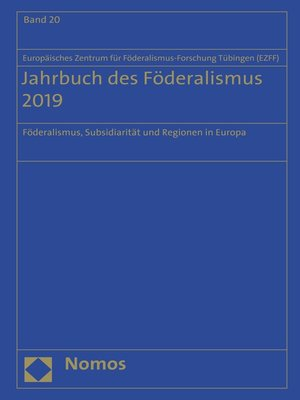 cover image of Jahrbuch des Föderalismus 2019