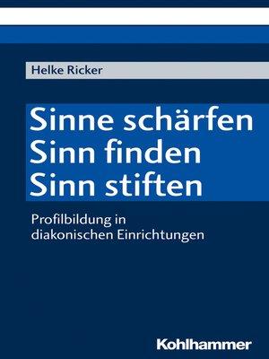 cover image of Sinne schärfen--Sinn finden--Sinn stiften