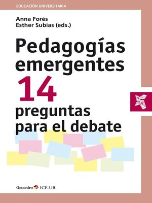 cover image of Pedagogías emergentes