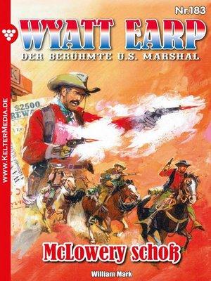 cover image of Wyatt Earp 183 – Western