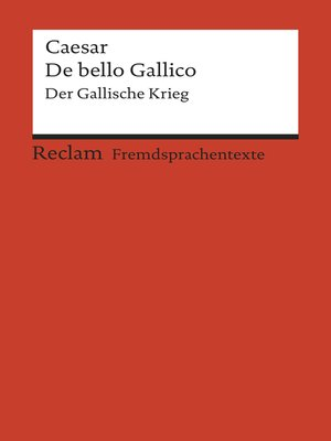 cover image of De bello Gallico
