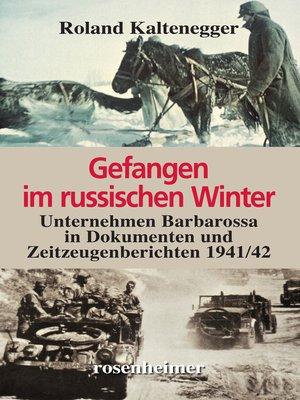 cover image of Gefangen im russischen Winter-- Unternehmen Barbarossa in Dokumenten und Zeitzeugenberichten 1941/42