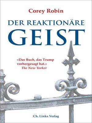cover image of Der reaktionäre Geist