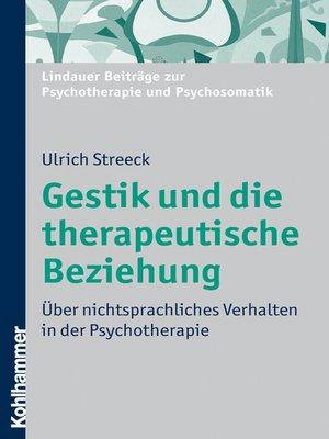 cover image of Gestik und die therapeutische Beziehung