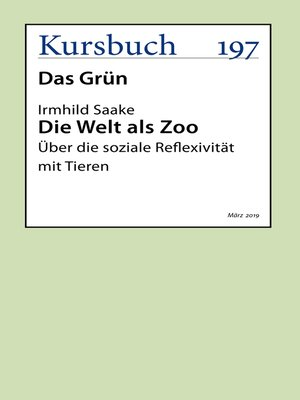 cover image of Die Welt als Zoo