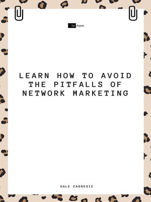 cover image of Learn How to Avoid the Pitfalls of Network Marketing