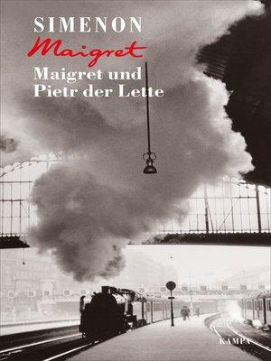 cover image of Maigret und Pietr der Lette