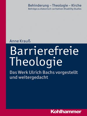 cover image of Barrierefreie Theologie