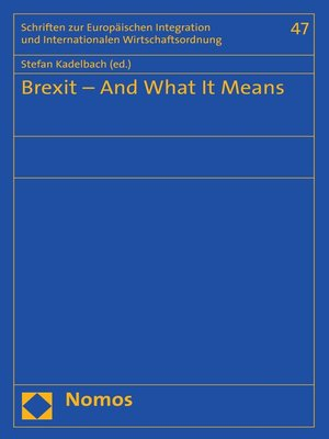 cover image of Brexit--And What It Means