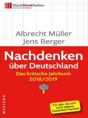 cover image of Nachdenken über Deutschland