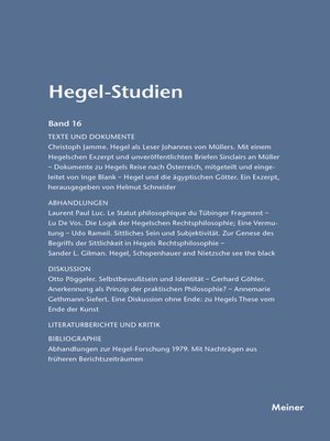 cover image of Hegel-Studien / Hegel-Studien Band 16