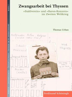 cover image of Zwangsarbeit bei Thyssen