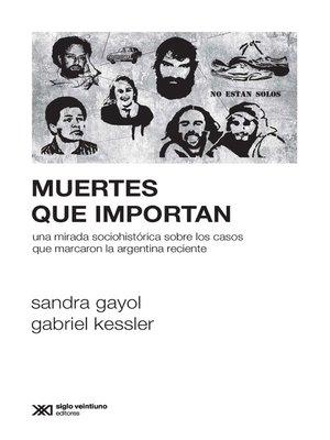 cover image of Muertes que importan