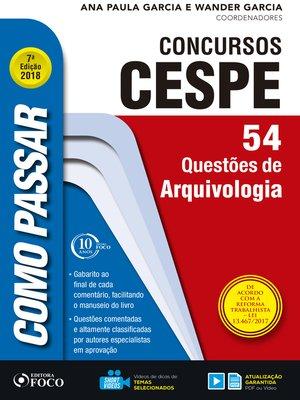 cover image of arquivologia: 54 questões de arquivologia