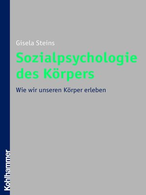 cover image of Sozialpsychologie des Körpers