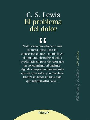 cover image of El problema del dolor
