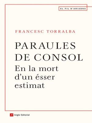 cover image of Paraules de consol