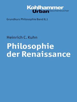 cover image of Philosophie der Renaissance