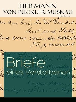 cover image of Briefe eines Verstorbenen