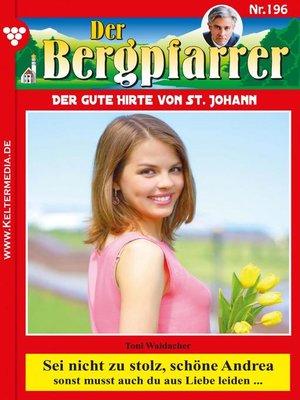 cover image of Der Bergpfarrer 196 – Heimatroman