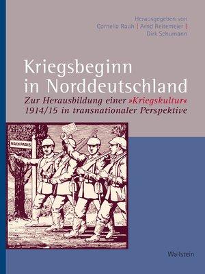 cover image of Kriegsbeginn in Norddeutschland