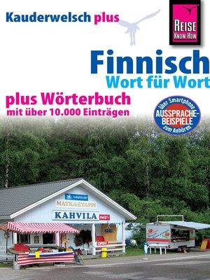 cover image of Reise Know-How Sprachführer Finnisch--Wort für Wort plus Wörterbuch