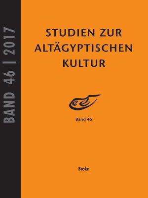 cover image of Studien zur Altägyptischen Kultur, Band 46